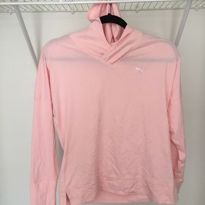 Puma Athletic Hoodie in Pink w/ Dry Technology